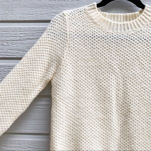 F21 | Knit Weaved Cream Sweater - Small